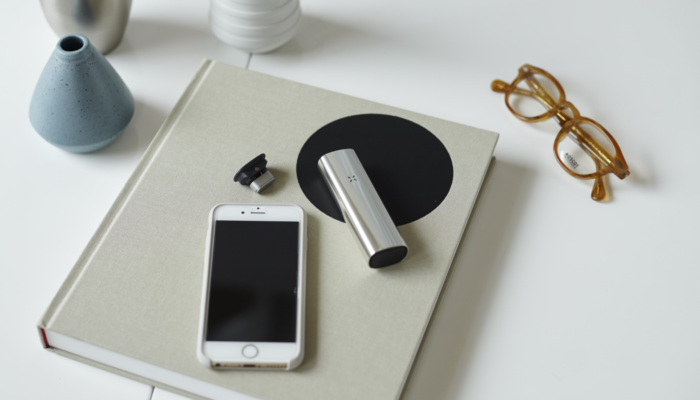 PAX 3 silver home lying