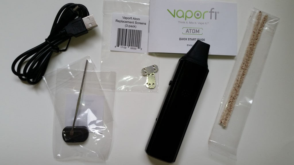 VaporFi Atom vaporizer specifications