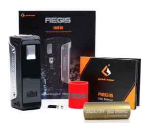 stock photo of GeekVape Aegis 100W with package