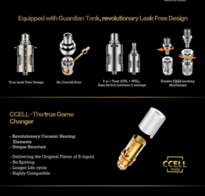 Vaporesso Target Technical Infographic