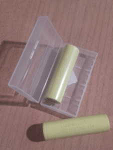clear plastic battery case